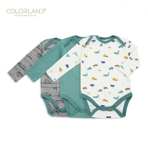 Colorland - (1) Baby Bodysuit 3 Pieces In One Pack - 9-12 Months