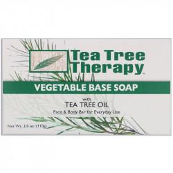 ، صابون نباتي أساسي ، بزيت شجرة الشاي من تي تري ثيرابي ، قطعة (110 جم)