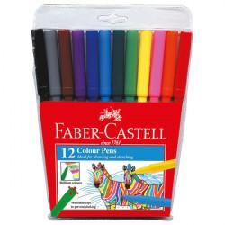 Faber Castell Fibre Tip Colour Pen - 12 Colours