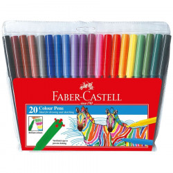 Faber Castell Fibre Tip, 20 Color Pencils