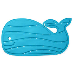 Bath Mat with Blue Delphine Design