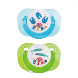 Farlin Tritan Pacifier -g- 0m+, Blue&Green