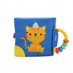 Soft Rattle and Teether Book (Cat)