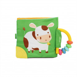 Soft Rattle and Teether Book (Cow)