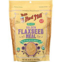 Bob's Red Mill-organic Flaxseed Meal - Golden, Pack of 4 (16 Oz) (453 G)