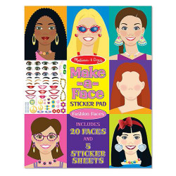 Melissa & Doug Fashion Faces Make A Face Sticker Pad