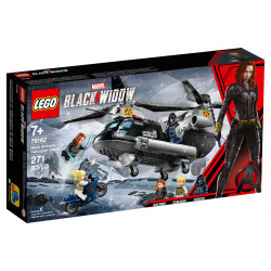 Lego Black Widow's Helicopter Chase