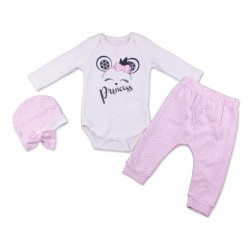 Miniworld Body White and Pink Princess 3-6 Months
