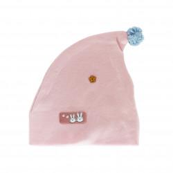 Newborn Baby Sleep Cap Cotton Baby Hat (Pink)