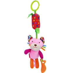 SKK Baby Wind Chime Clip on Toy for Stroller Crib Playmate, Fox