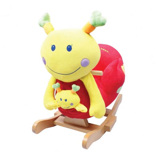 إي بيبي: كرسي هزاز للأطفال على شكل اليرقة