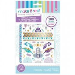 Make it Real Metallic Tattoos Purple