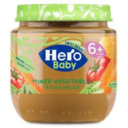 هيرو بيبي وجبة مهروس خضراوات مشكلة, 125 جم