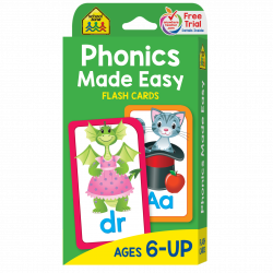 School Zone - Phonics Made Easy-Flash Cards