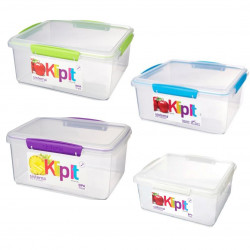 Sistema Rectangular Food Container, 5 Liter, Assorted Colors, One Container