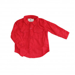 Red Long- Sleeves Shirt for Boys +9 Months