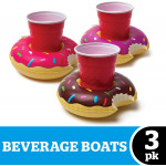 BigMouth Mini Donut Cup Holders (Pack of 3)