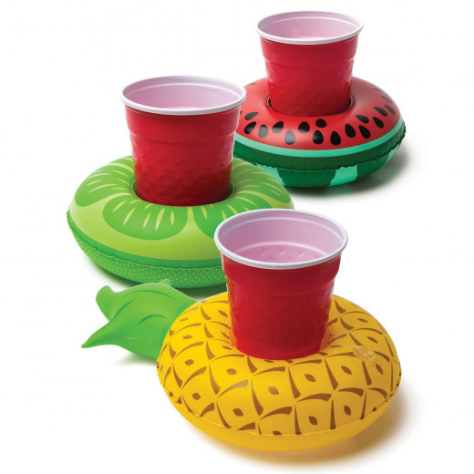 BigMouth Tropical Fruit Cup Holder (3-Pack)