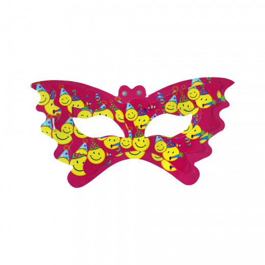 مجموعة من 11 قناع للوجه لحفلة عيد الميلاد - باللون الزهري