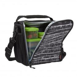 حقيبة غداء لانش بلوكس ، متوسطة الحجم ، أسود إتش من ربر ميد