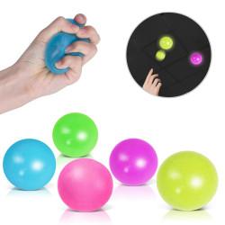 ألعاب جلوبلز لتخفيف التوتر ، كرة سكواش لزجة ، ألوان متنوعة, 4 كرة