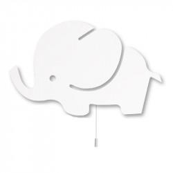إضائة  فيل حائط  خشب ابيض