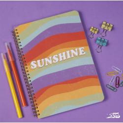 دفتر سلك بتصميم شروق الشمس مقاس A4 - خمس مواضيع من مفكرة